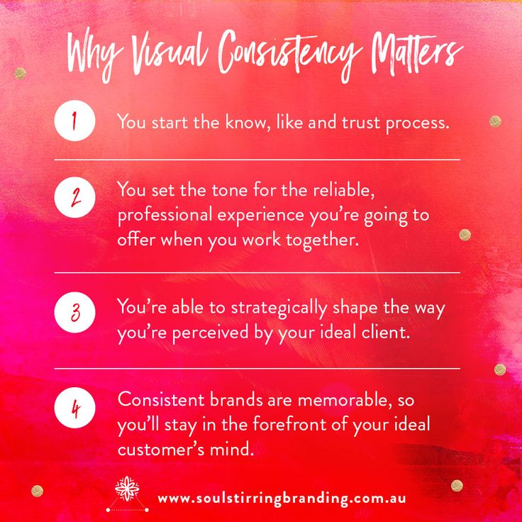 Why Visual Consistency Matters. Design by Soul Stirring Branding ♥