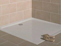 - Flush fitting square enamelled steel shower tray SUPERFLACH   Square shower tray - Bette