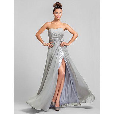 Bridesmaid Dress Floor-length Chiffon Sheath/Column Sweetheart Dress – AUD $ 138.99