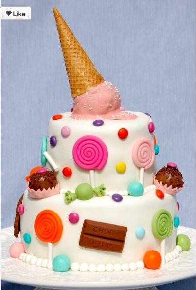 Lollipop bday cake
