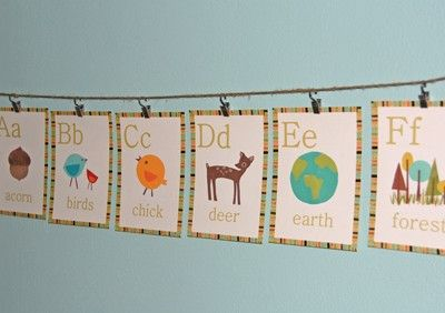 Use your creativity to arrange and assemble these Alphabet Wall Cards from Children Inspire Design!  These educational wall cards give you the freedom to decorate your kid's bedroom or nursery however you prefer