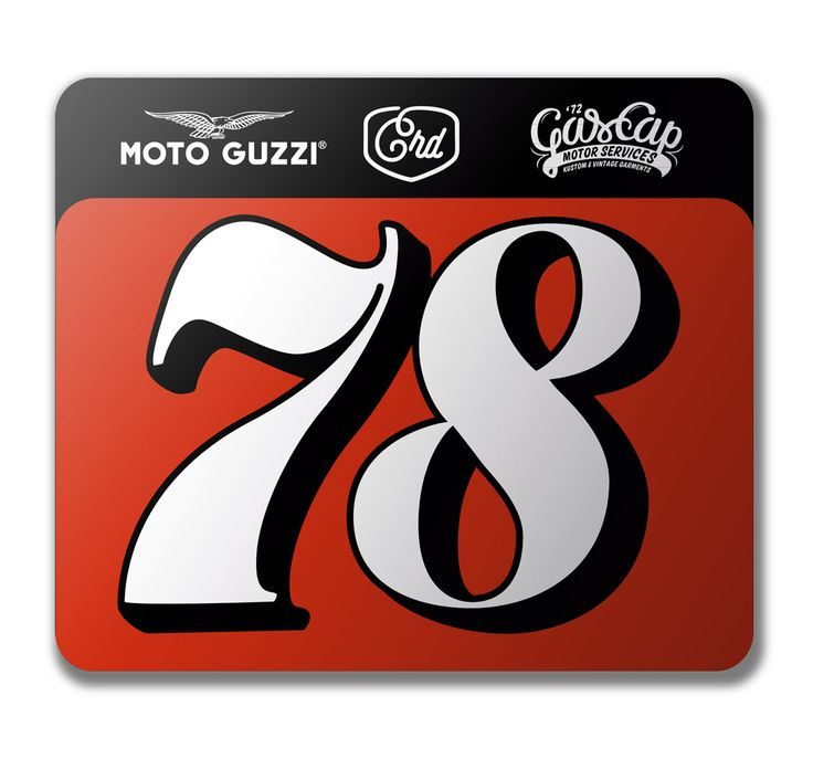 Dirt Track number plate for Crd Cafe Racer Dreams. Alex Ramon Mas design