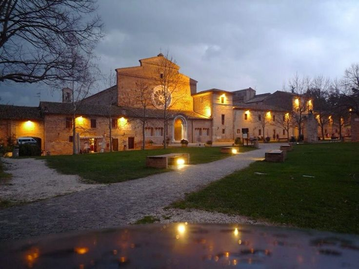 The Abbadia di Fiastra, a short drive away from our apartments at VillaMiramonti, Marche.