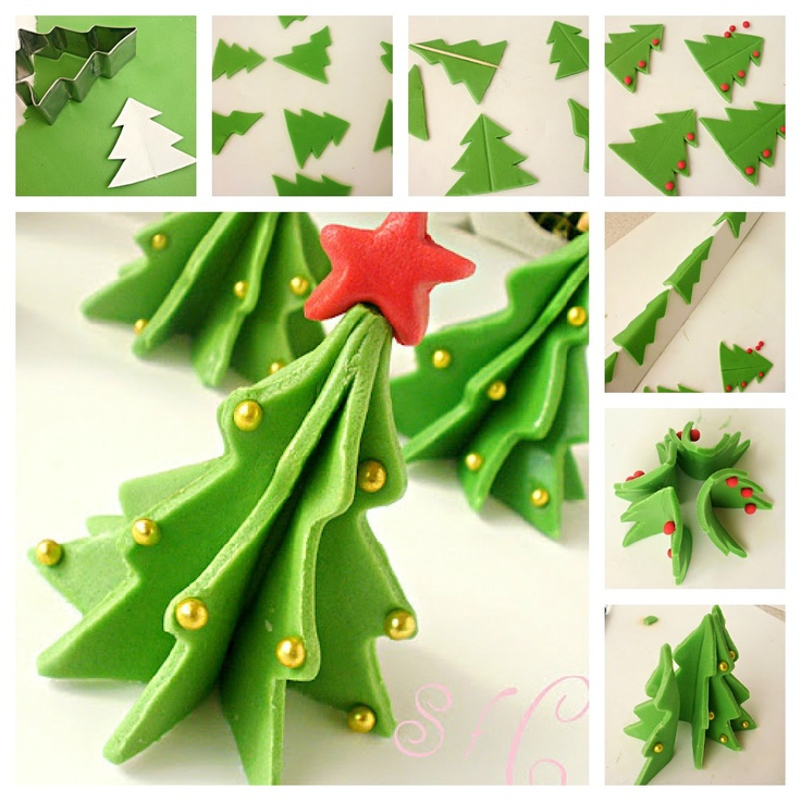Christmas tree from sugar paste!