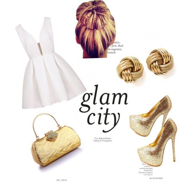 Glamorous gold and white