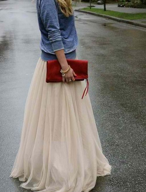 Casual tulle.