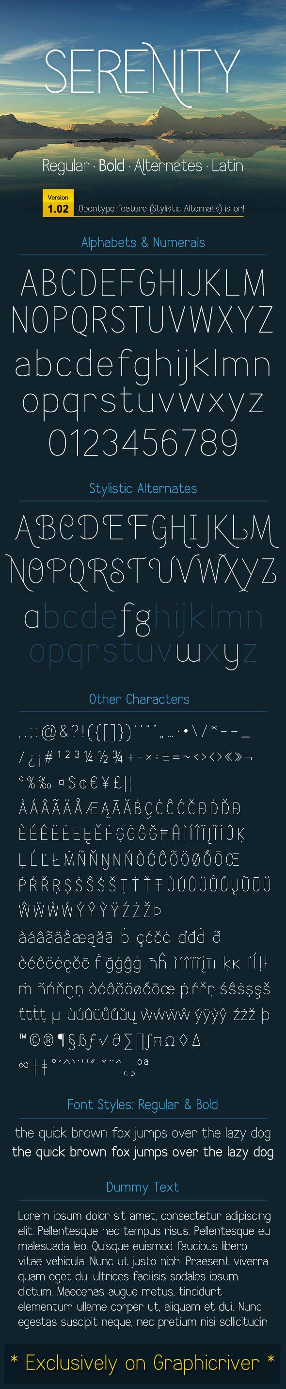 SERENITY font - Sans-Serif Fonts