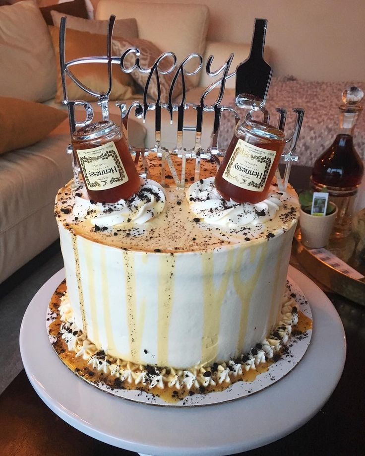 """174 Likes, 8 Comments - A Spoonful Of Honey (@wannaspoon) on Instagram: """"Is it too early for cake? Big possibility it is considering its a personalized HENNESSY…"""""""