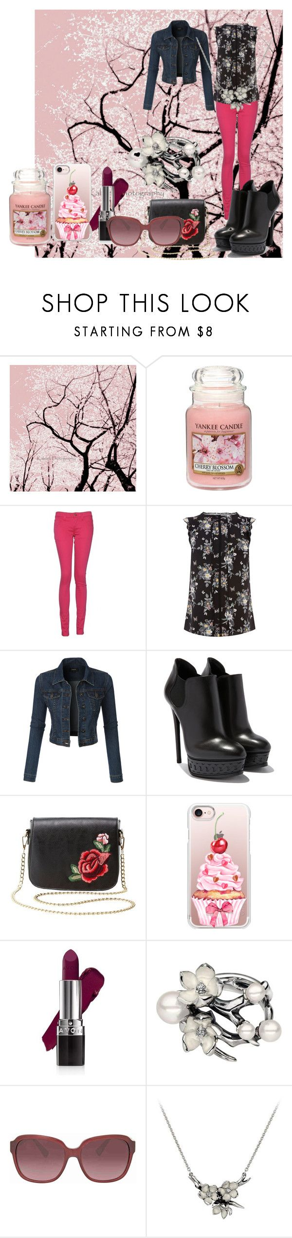 """cherry"" by viviana519 ❤ liked on Polyvore featuring Yankee Candle, Monkee Genes, LE3NO, Charlotte Russe, Casetify, Avon, Shaun Leane and Coach"