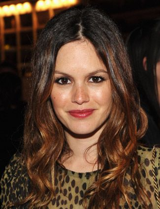 rachel bilson's dark hair looks great with a subtle copper balayage studiobesalon