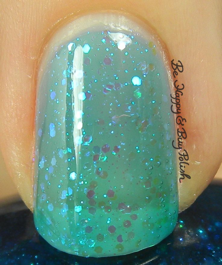 Sinful Colors Teal Midnight macro   Be Happy And Buy Polish http://behappyandbuypolish.com/2015/10/20/sinful-colors-bling-it-on-nail-polish-collection-partial/