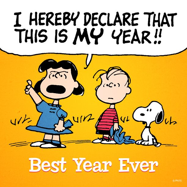Happy New Year Charlie Brown Quotes: Best! Ever! Year! Ever!!!