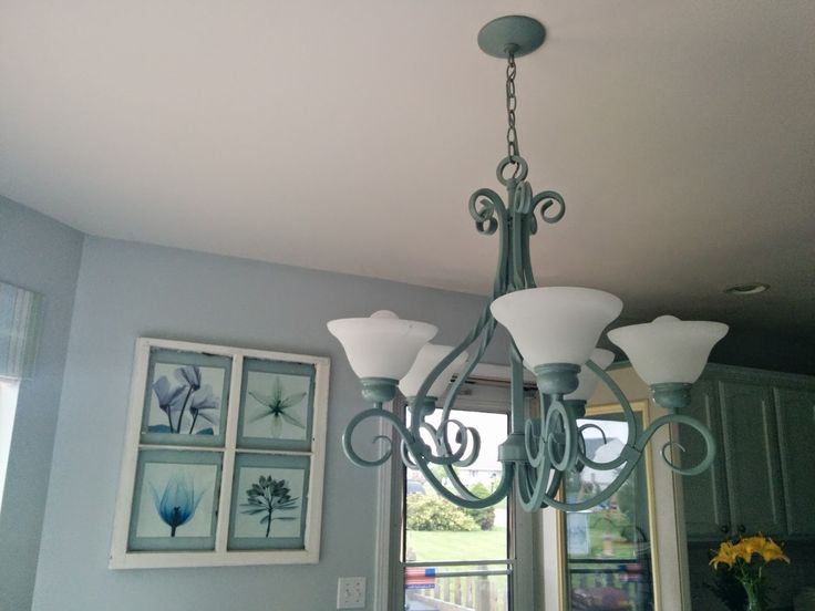 Our house, now a home: beautiful chandelier redo. To see more click on post or visit http://ourhousenowahome.com/