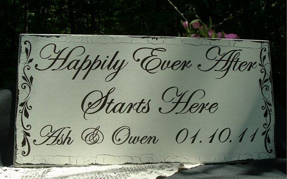 Wedding Signs Custom Signs Shabby Chic Signs Wood by tcart2010, $57.00