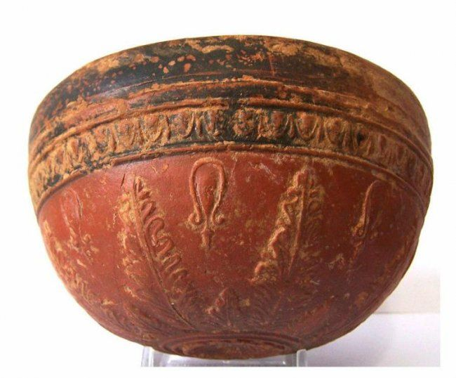 Ancient Greek Megarian Pottery Bowl - 3rd. Century BC - 13 cm x 7 cm - $250.00 - $600.00