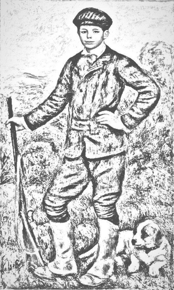 Renoir Jean Renoir en chasseur Coloring famous