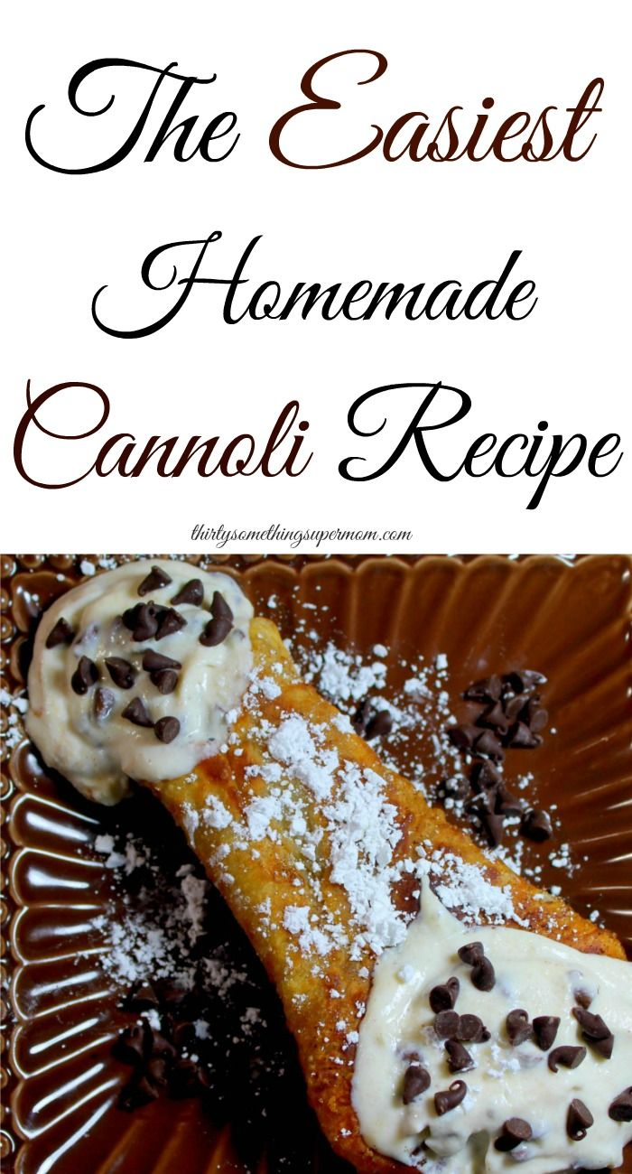 This Homemade Cannoli Recipe is not only easy, it's delicious too!