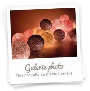 Galerie photo des guirlandes lumineuses de déco
