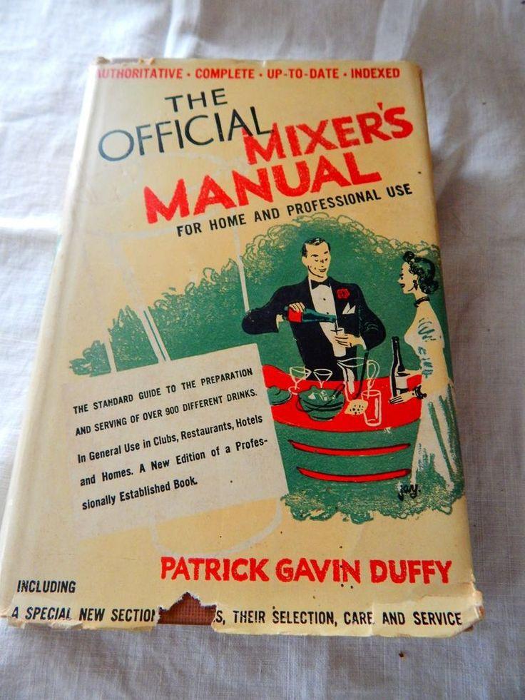 1948 The Official Drink Mixer's Manual Patrick Gavin Duffy Bartender Mixology