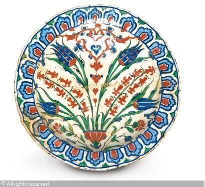 IZNIK CERAMIC, 16 > (Turkey)  Title : GRAND PLAT  Date : 16 >  GRAND PLAT sold by Millon & Associés, Paris, on Monday, December 06, 2010