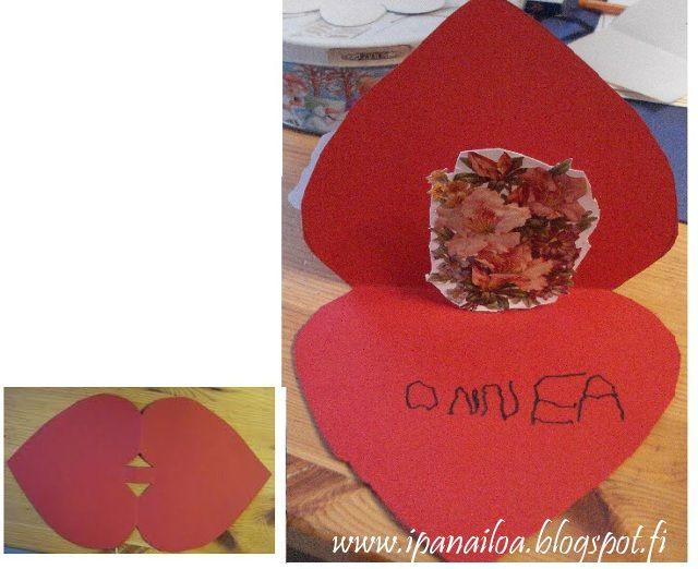 askartelua: äitienpäivä, kortti, sydän crafts: Mother's Day, card, heart hantverk: mors dag, kort, hjärta http://ipanaaskartelua.blogspot.fi/2011/05/aitienpaivakortti.html