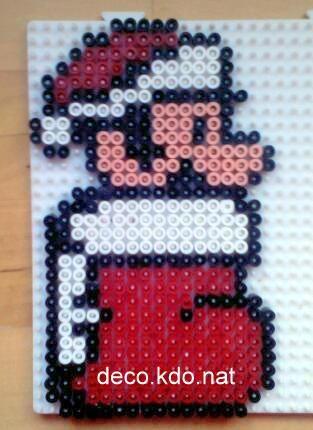 Christmas Mario hama perler beads by deco.kdo. nat