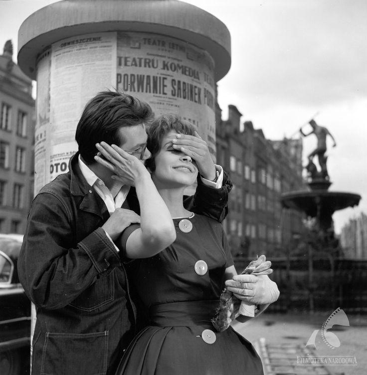 """Teresa Tuszyńska i Zbigniew Cybulski dla filmu """"Do widzenia, do jutra"""", 1960."""