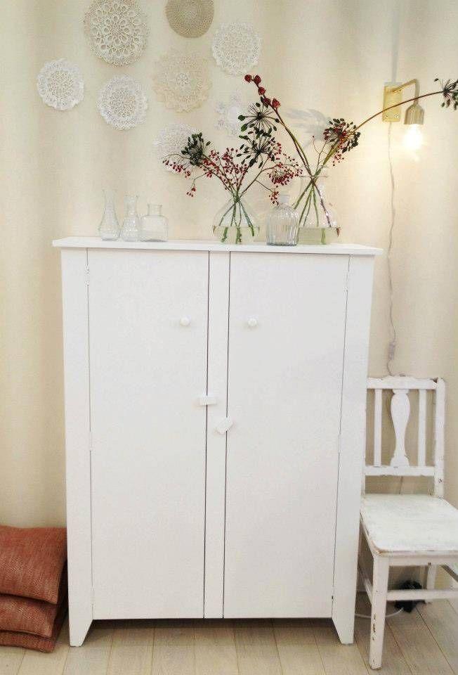 HK-living Kast wit hout 140x103x35cm - wonenmetlef.nl