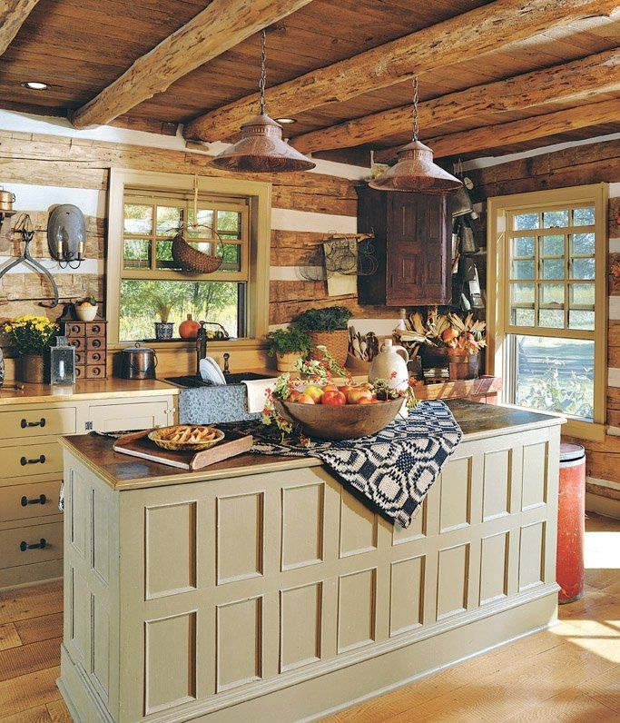 Cabin Kitchen Cabinets: 1000+ Ideas About Log Cabin Kitchens On Pinterest