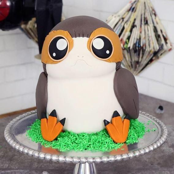 PORG CAKE! See the complete Star Wars Cake tutorial here www.thepartyproject.us #starwarsparty #starwarscake