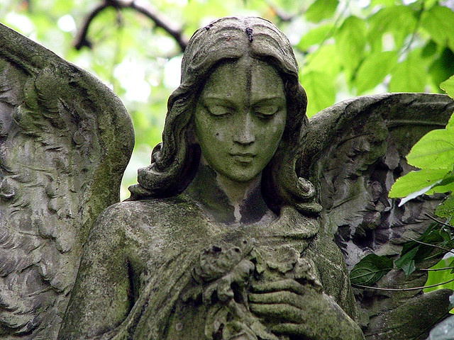 """Untitled"" (2004), By Flickr ID: slynkycat, Photography, Highgate, London, England. United Kingdom.  Artist's Website: http://slynkycat.deviantart.com/  #angels"
