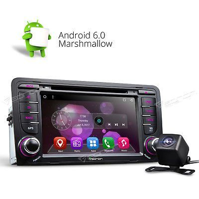 ﹩278.00. Camera Car Stereo Android 6.0 DVD CD Player 1024x600 GPS FM 3G O For Audi A3 S3