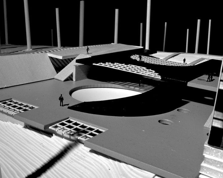 FOCO archive: SCI-FI Hill B-movie cinema bunker and museum spiral platform #newhaven #architecture #cinema #public #models #foco