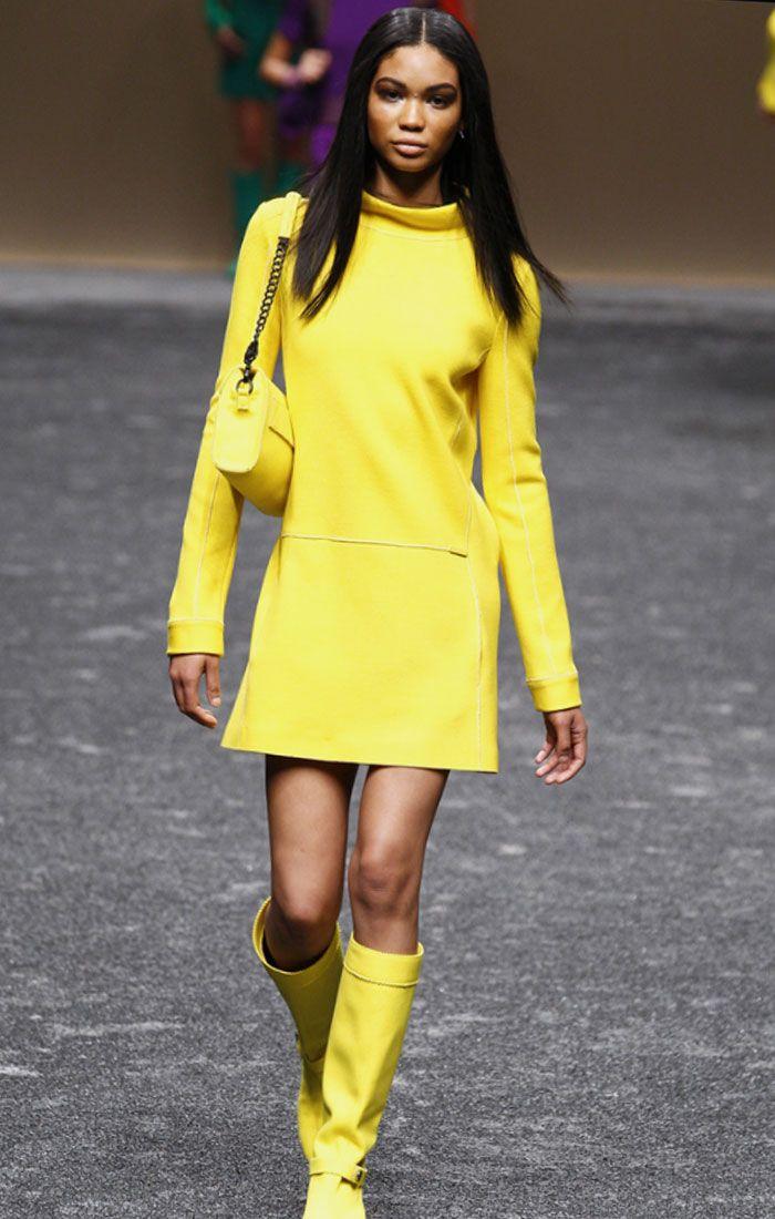 Google Image Result for http://www.fashion-dress.net/wp-content/uploads/2011/03/Blumarine-Fall-2011-Yellow-Dress-Chanel-Iman.jpg