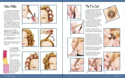 Our hair had to be just right! How to do pin curls and the proper way to roll your hair.