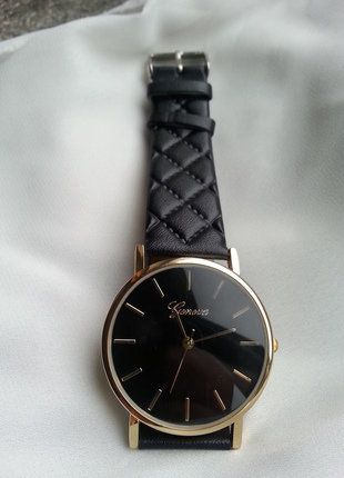 Kup mój przedmiot na #vintedpl http://www.vinted.pl/akcesoria/bizuteria/16169312-mozliwosc-rezerwacji-piekny-zegarek-geneva-czarny-idealny-na-sylwestra-mikolajki-wideo