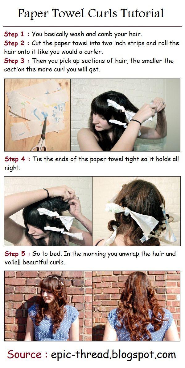 Paper Towel Curls Tutorial - looks easy!