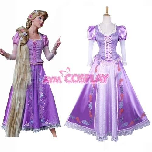 Disney Tangled Rapunzel Dress Movie Costume Cosplay G823 Tailor Made | eBay