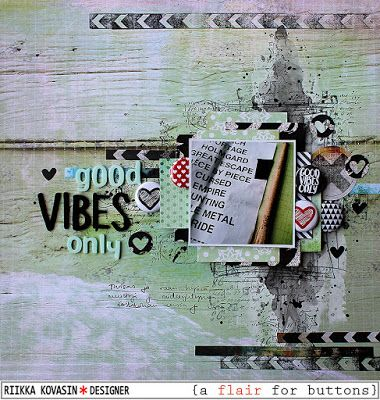 Riikka Kovasin - Paperiliitin: Good vibes only - A Flair for Buttons