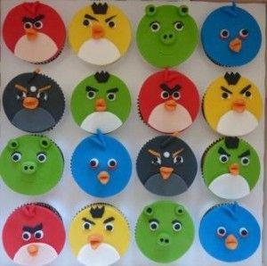 Angry Bird-cupcakes