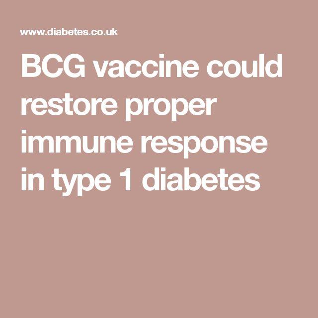BCG vaccine could restore proper immune response in type 1 diabetes