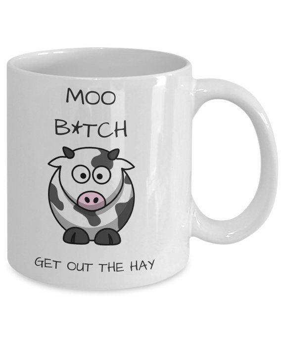Funny Cow Mug Cow Farm County Mug Cow Coffee Mug Cow by MuzzyMugs