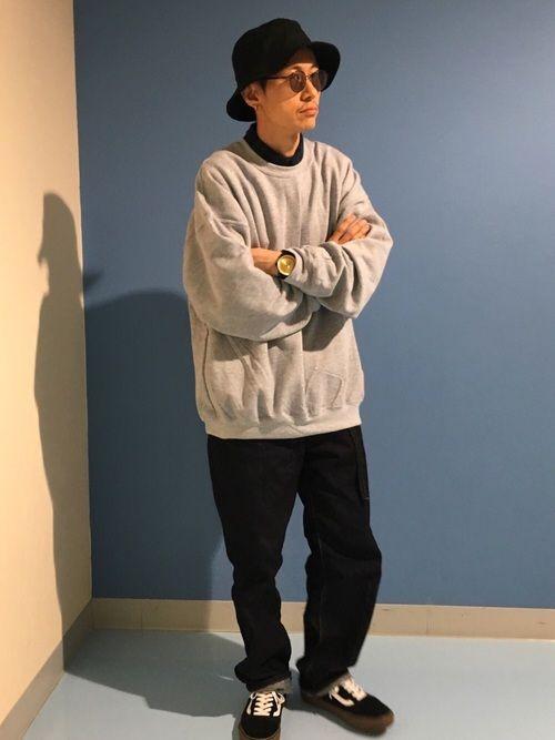 BIGスウェット✖️バギーデニム 8年前のちょうど今日、煙草やめました♡ #禁煙生活9年目突入 【T