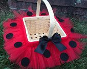 Halloween trick or treat basket, trick or treat bag, Halloween costume lady bug