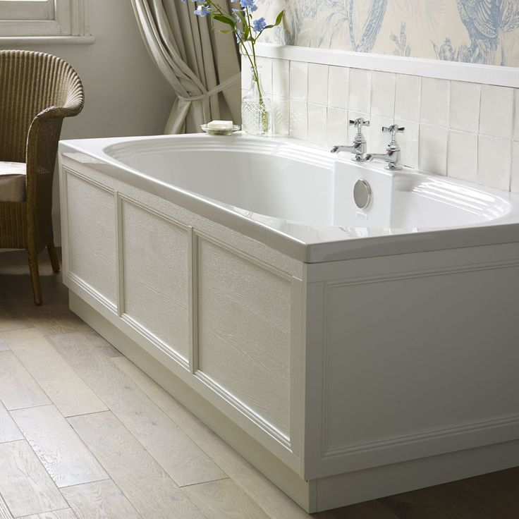Heritage Dorchester Double Ended Bath with Solid Skin (1800x800mm) Profile Large Image