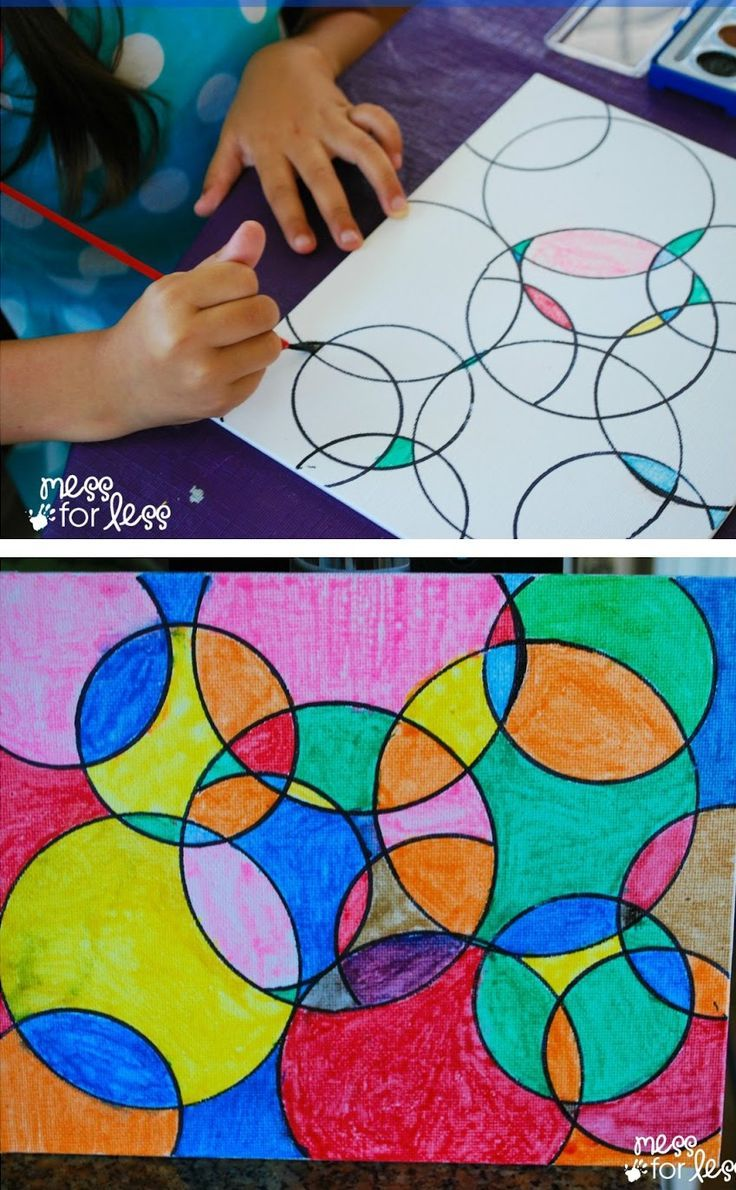 Youngsters Artwork Initiatives – Watercolor Circle Artwork. The outcomes are all the time eye catching n…