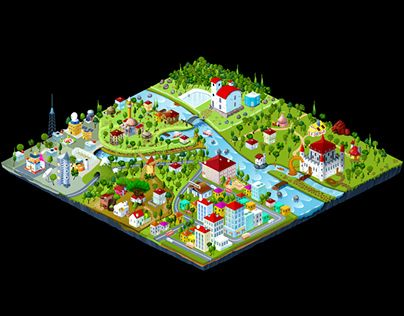 "Check out new work on my @Behance portfolio: ""isometric map project"" http://be.net/gallery/49472493/isometric-map-project"