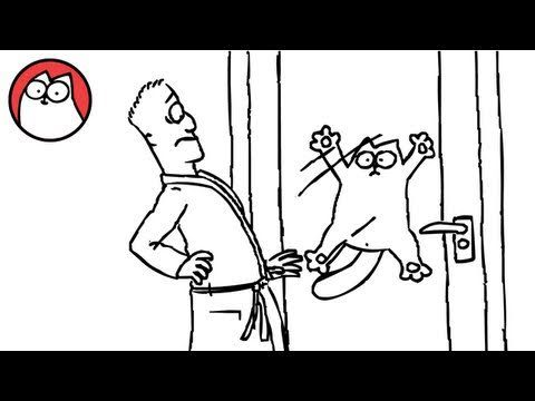 """In this second episode of Simon's Cat, the cat wants inside the house and will attempt anything to get in where it is warm and where the food is. This is another episode of the popular Simon's Cat series, this one titled """"Let Me In"""". See more Simon's Cat videos at youtubefunnyvideoclips.com"""
