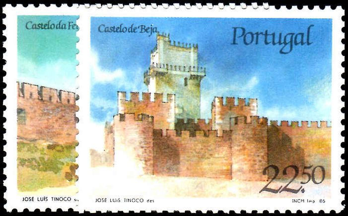 Portugal 1986 Castles (1st series)