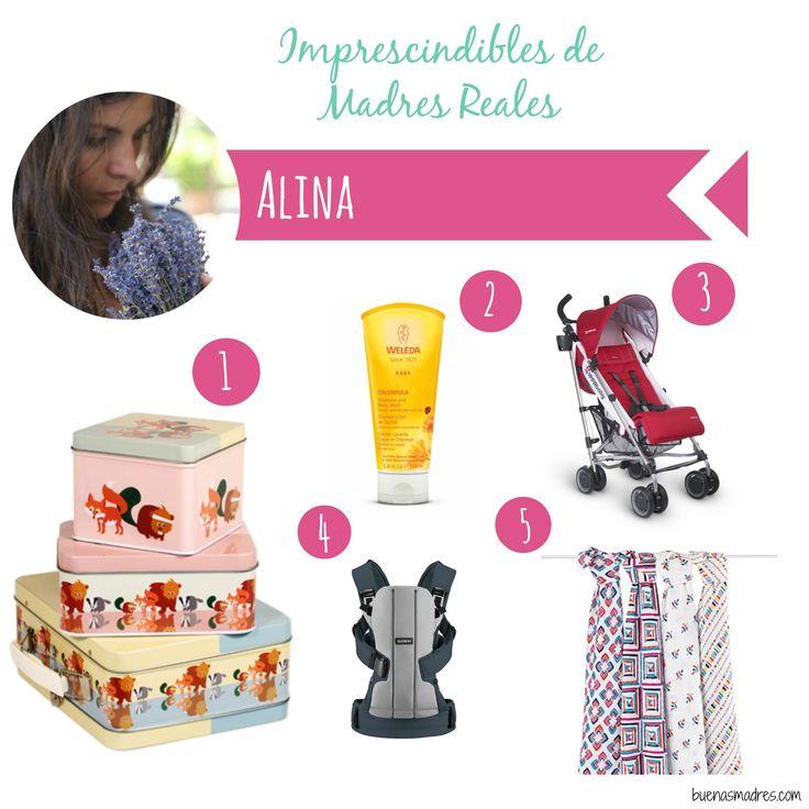 """""""Hola soy Alina, creadora del blog de vida saludable @Green_Mama_Bcn donde encontrarás recetas saludables, fáciles de hacer y muy ricas, recomendaciones de lugares, historias de personas que me inspiran y un poco de mi día a día como madre y como foodie.  1. La fiambreras en forma de gufo y de tractor de @blafrebutikken  2. Cremas y champus #Weleda  3. Cochecito @uppababy 4. Mochila @babybjorn   5. Muselinas @adenandanais"""